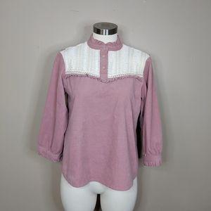 Zara Basic corduroy top - size M